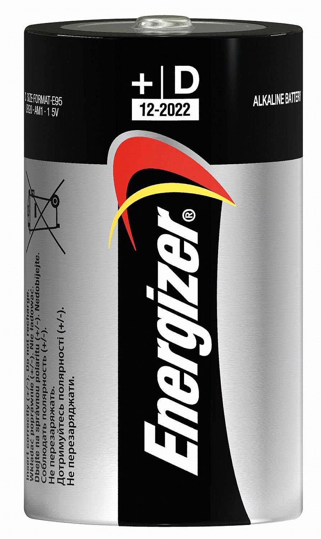 Energizer Batteria Alcalina di Mono D (2–pack)
