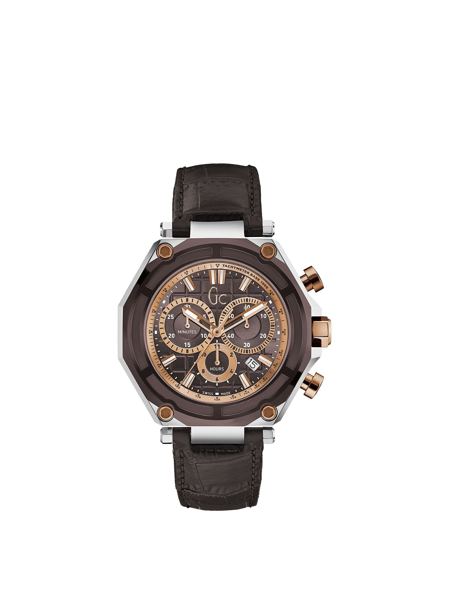 Guess Gc Collection Men's Guess Collection Men's Leather Brown Watch