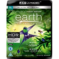 Earth: One Amazing Day (BBC Documentary) [4K Ultra HD/Blu-ray] (2017) | Dolby ATMOS | Imported from UK | BBC | 2 Discs (1 4K/1 Blu-ray) | 93 min | Region Free | Narrator: Robert Redford, Jackie Chan