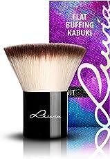 Luvia Cosmetics – La Nuit – V - Flat Buffing Kabuki – Make Up Kosmetikpinsel Kabuki in Edlem Schwarz - Liebevoll und Traditionell Handgefertigt - Vegan