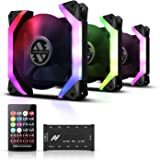 ABKONCORE Computer Fan SP120 - SYNC 120mm PC Fans, Spider-Shaped PC Case Fans with Anti Vibration, Hydro Bearing, Super Silen