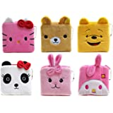 toyshine party favor purse pouch stationery organiser kit bag (pack of 6)- Multi color