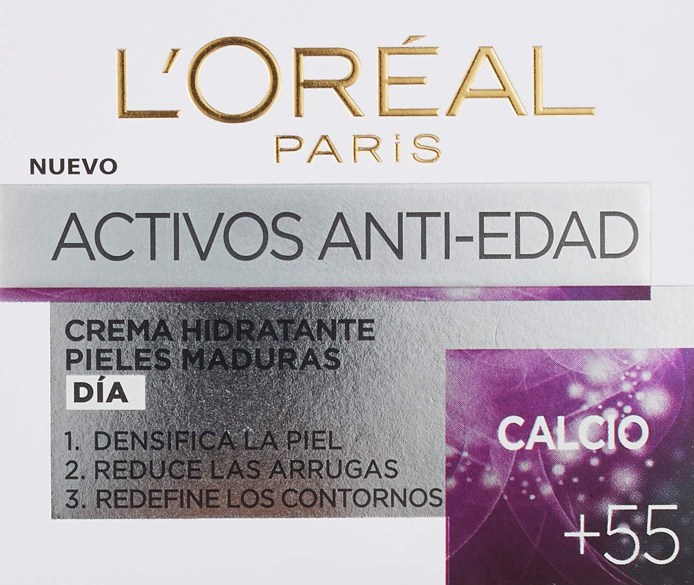 L'Oreal Paris Skin Expert – Crema de Día Nutritiva Anti-Arrugas, Tratamiento con Calcio para Pieles de +55 – 50 ml