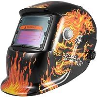 KKmoon Casque de Soudage à l'énergie Solaire Masque de soudage Auto-Obscurcissant Masque de broyage Tig MIG Robot Style