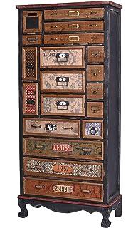 Commode Industrielle Loft M/öbel Loft Meuble dapothicaire R/étro lof031 Palazzo Exklusiv