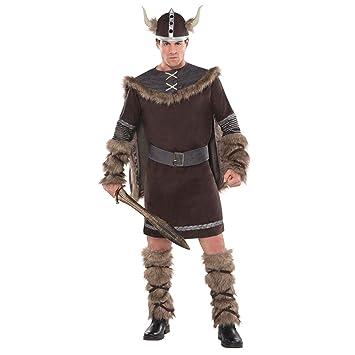 M / L - Mens Viking God Thor Fancy Dress Costume Outfit Medieval ...