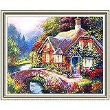 GMMH Diamond Painting Juego de 30x 40Diamante Pintura Bordado Mano Manualidades mosaicos Flores Cesta Casa Am Bach