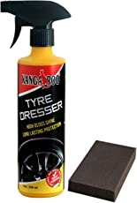 KANGAROO TYRE Polish & Dresser (Black Shine) 350 ML+ Foam PAD