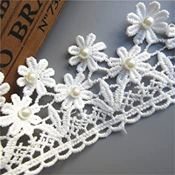 2M Vintage 2-layer Gathered Lace Edge Trim Ribbon DIY Craft Clothing Accessories