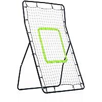 HOMCOM Kickback Fußball Rebounder Tor Rückprallwand Netz, Stahl+PE, 75x126cm, Schwarz