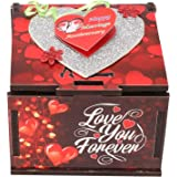 Wenzel Love You Forever Marriage Anniversary Greeting Cards in Wooden Box