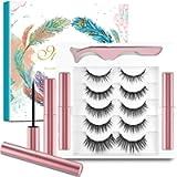 5 Paia di Ciglia Magnetiche con Eyeliner,Ciglia Magnetiche,Senza Colla e Riutilizzabili,Ciglia Finte Magnetiche 3D…