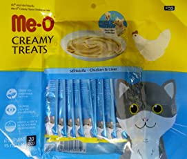 Fins Fur and Feathers Me-O Creamy Treat Chicken & Liver (Pack of 20 Sticks)