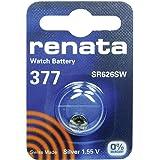 377 (SR626SW) Batterie de Pièces de Monnaie / Oxyde D'argent 1.55V / pour Les Montres, Torches, Clés de Voiture, Calculatrice