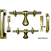 Atom Maharaja Brass Door Kit (Antique, 10 x10 x 3 cm)