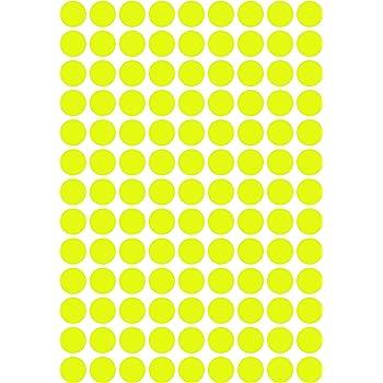 leuchtend Punkt 20 mm 234 Klebepunkte Vinyl Neon gr/ün aus PVC Folie selbstklebend Markierungspunkte rund