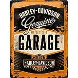 Nostalgic-Art Targa Vintage Harley-Davidson – Garage – Idea Regalo per Amanti di Moto, in Metallo, Design Retro per Decorazio