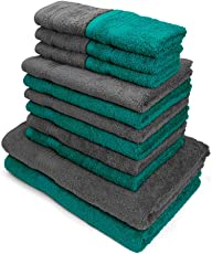 Swiss Republic Towels Set- Signature collection 630 GSM made with 100% ring spun extra soft cotton with quick dry and double stitch line for extra long durability - set of 14 towels with 2 YEARS replacement GUARANTEE.