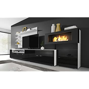 Home Innovation Moderne Wohnwand Tv Lowboard Esszimmer Mit Kamin