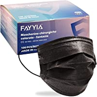 100 Stück OP Masken schwarz CE zertifiziert Typ IIR BFE≥98%,MADE IN EU,medizinischer Masken Mundschutz schwarz…