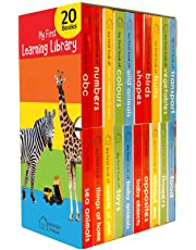 My First Learning Library: Boxset of 20 Board Books for Kids (Vertical Design)