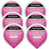 Neutrogena Illuminating Boost Creme Maske - Creme Maske mit Vitamin B3 für strahlend schöne Haut - 6 x 10ml
