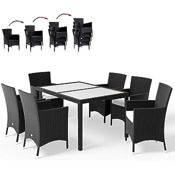 CLP Polyrattan-Sitzgruppe SANDNES inklusive Polsterauflagen | Garten ...