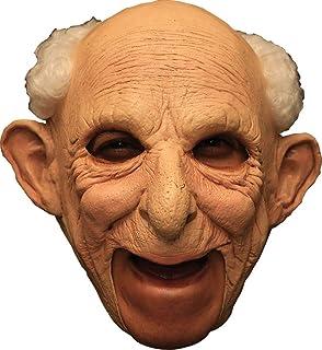 Old Lady Grandma Chinstrap Full Head Latex Mask Fancy Dress Halloween
