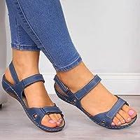 DZQQ Femmes Sandales Plates 2020 été Bout Ouvert Solide Faux Cuir orthopédique Femmes Chaussures Plate-Forme…