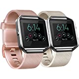ATUP Straps Compatiblewith Fitbit Blaze Wrist Strap (2 Pack), Classic Replacement Fitbit Blaze Strap [No Frame]