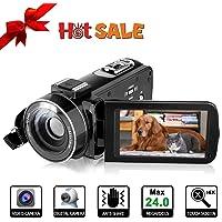 Caméra vidéo Caméscope numérique - YUNDOO Caméscope Full HD 1080p 24 MP H Écran ACL de 3.0 Pouces à 270 degrés Rotatif - Caméra vidéo Zoom numérique 16X