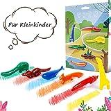 ONCCI 6 Farbstifte Wachsmalstifte Handflächengriff Wachsmalstifte Waschbar Stifte für Kleinkinder Tiere Form
