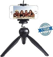 Ovista Mini Tripod Universal YT-228 for Digital Camera & All Mobile Phones- Black