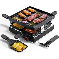 Muchen Appareil à raclette , grill avec revêtement antiadhésif et 4 mini poêlons à raclette, raclette pour 4 personnes…