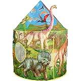 Tacobear Dinosaure Tente Enfant Garcon Tent Dinosaure Tente de Jeu de Château Portable Tente Pop Up Maison de Jeu Intérieure
