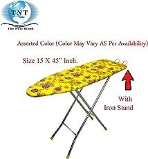 Saimani Folding Ironing Board Iron Table with Press Stand, XL (Multicolour, Saimani)