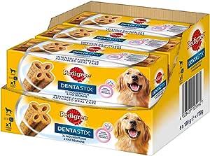 Pedigree DentaStix Advanced Oral Care Zahnpflegesnack für verschiedene Hundegrößen – Hundeleckerli mit Huhn- & Rindgeschmack – 2x wöchentlich