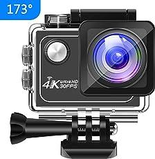 Panlelo V1 Action Cam 4K 173 ° Weitwinkel 16MP HD Unterwasser Kamera Wifi Sport Action Kamera 7 Schicht Glas Zubehör Kit für Radfahren Schwimmen