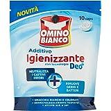 Omino Bianco - Additivo Igienizzante Idrocaps, Capsule Idrosolubili per Bucato, Tecnologia Deo+, Contro Batteri e Cattivi Odo
