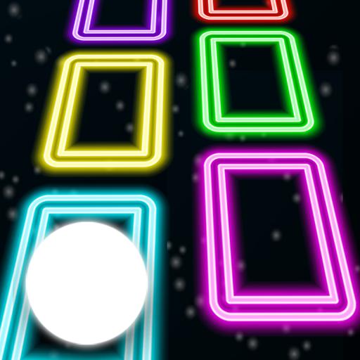 Neon Tiles Space Hop