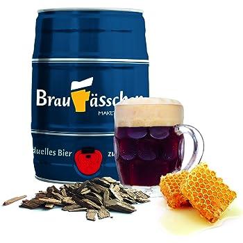 Bierbrauset zum selber Brauen – Dunkles mit Eichenholz & Honig im 5 L Bierfass - in 7 Tagen gebraut
