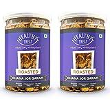 Healthy Treat Roasted Chana JOR Garam Combo 400 gm ( Pack of 2 , Each 200 gm) | Oil-Free I Protein-Rich | Gluten Free | Vegan