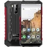 Outdoor Smartphone ohne vertrag Ulefone Armor X3 5,5 Zoll IP68/IP69K Wasserdicht Handy, 2GB + 32GB, 5000 mAh, Android 9 mit Corning Gorilla Glass, Globales 3G Frequenz-Dual-SIM-Telefon - Rot
