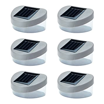 6 x SOLAR POWERED DOOR FENCE WALL LIGHTS LED OUTDOOR GARDEN