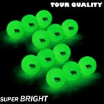 R&L Night Golf Ball Glow in The Dark - Fluorescent Luminous Balls Rechargeable with Sunlight Or Uv Flashlight Included
