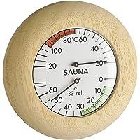 TFA 40.1028 Thermo-hygromètre pour sauna Cheveu synthétique Cadre en bois massif (Import Allemagne)
