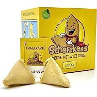 Scherzkeks® - eine Packung Heiterkeit, 5er Box Scherzkekse, 5 Kekse mit Flachwitze, Witz-Keks Vegan, Made in Germany…