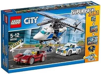Seltenes LEGO-City-Polizei-Set 66550, 3-in-1-Megapack