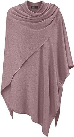 Cashmere Dreams Poncho-Schal mit Kaschmir - Hochwertiges Cape für Damen - XXL Umhängetuch und Tunika mit Ärmel - Strick-Pullover - Sweatshirt - Stola für Sommer und Winter Zwillingsherz