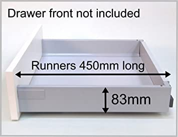 BLUM SOFT CLOSE Replacement Kitchen Drawer Box (shallow), Complete Kit  Including Runners.